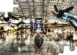 Stany Zjednoczone, Stan Wirginia, Muzeum Lotnictwa, Smithsonian National Air and Space Museum Steven F. Udvar-Hazy Center, Samoloty, HDR Muzea