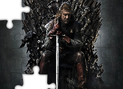 Sean Bean, Gra o tron, Game of Thrones, Miecz, Kruk
