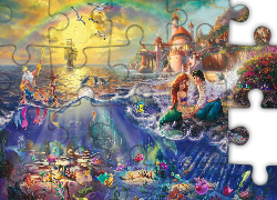Thomas Kinkade, Disney, Mała Syrenka, The Little Mermaid, Morze