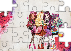 Apple White, Briar Beauty, Raven Queen, Madeline Hatter, Ever After High