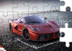 Czerwone, LaFerrari, Parking