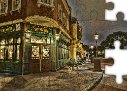 Dom, Ulica, Bar, Rose and Crown Pub, Disneyland, Epcot, Orlando, Floryda, Stany Zjednoczone