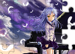 Angel Beats, anime, pianino, Kana Hanazawa