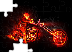 Ognisty, Ghost rider, Fractalius