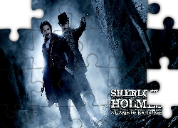 Film, Sherlock Holmes Gra cieni, Robert Downey Jr, Jude Law