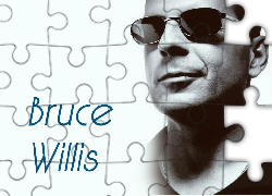 Bruce Willis, usta, okulary