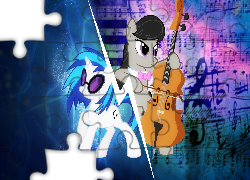 MLP, My little pony, Octavia, Vinyl Scratch
