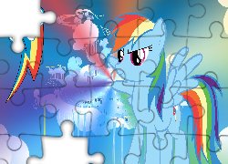 My Little Pony, Rainbow Dash, Znaczek, Cloudsdale