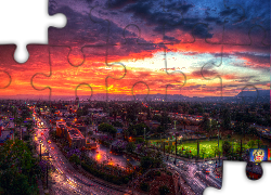 Los Angeles, USA, Noc, Droga, HDR