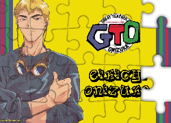 Great Teacher Onizuka, postać, napisy, logo, gogle