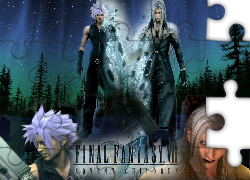 postacie, fantazja, Ff 7 Advent Children, las