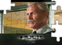 The Incredible Hulk, William Hurt, wąs, twarz