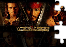 Piraci Z Karaibow Orlando Bloom, Keira Knightley, Johnny Depp, broń