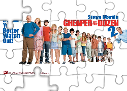Cheaper By The Dozen 2, Steve Martin, Bonnie Hunt, Tom Welling, Piper Perabo, dzieci