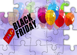 Napis, Black Friday, Balony, Grafika