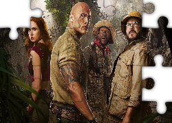 Film, Jumanji Następny Poziom, Jumanji The Next Level, Aktor, Dwayne Johnson, Aktorka, Karen Gillan, Kevin Hart, Jack Black