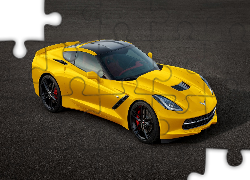 Żółty, Chevrolet Corvette C7, Stingray