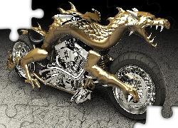 Grafika 3D, Chopper Dragon Head, 2013, Smok