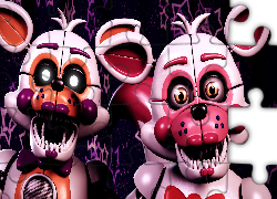 Gra, Five Nights at Freddys, Funtime Foxy, LolBit