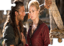 Serial, Black Sails, Piraci, Zach McGowan, Kapitan Charles Vane, Hannah New, Eleanor Guthrie