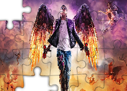 Gra, Saints Row Gat out of Hell, Postać, Johny Gat Render, Anioł, Broń, Pistolety, Bitwa