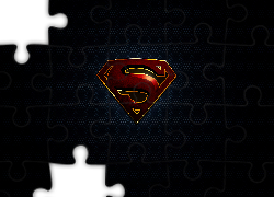 Logo, Superman, Ciemne, Tło