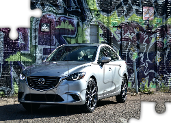 Mazda 6 Grand Touring, 2016, Ściana, Graffiti