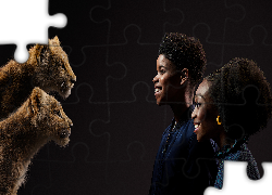 Film, Król Lew, The Lion King, Nala, Simba, Obsada dubbingowa, JD McCrary, Shahadi Wright Joseph