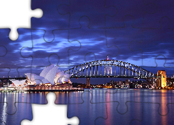 Australia, Sydney, Sydney Opera House, Most Sydney Harbour Bridge, Zatoka Port Jackson